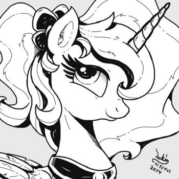 MLP FIM - Different Style Princess Luna PS by Joakaha