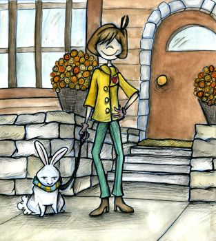 Autumn Laven and Marshmallow by laurenkrieger