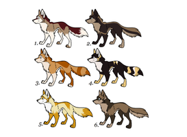 Wolf Adoptables by Keehta