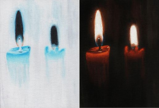 Candles in negative by ZoeCassandra