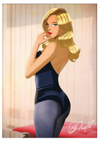 Black Canary Pin Up by Des Taylor by DESPOP