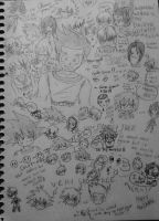 My Lovely Doodle Page xD by dbz-senpai