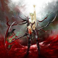 WOW fanart: Blood Elf DK by dwinbotp