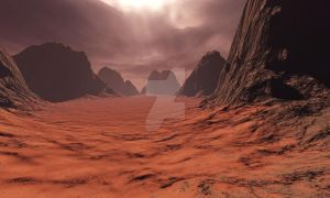 A Hot Desert World 6600 Light Years Away by starfire777