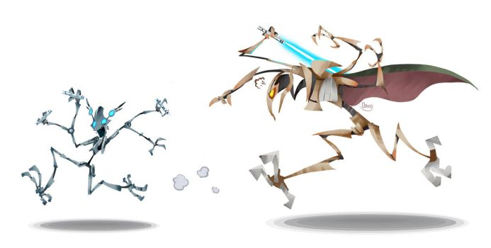 Frenzy and Grievous by zgul-osr1113
