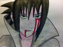 Funny looking Sasuke by redwolf18blue