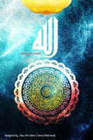 I love Allah - Calligraphy by newartvision