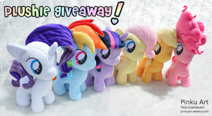 Mane 6 filly plushies - Giveaway by PinkuArt