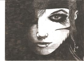 Charcoal Pencil - Andrew Dennis Biersack (BVB) by AnaMesquitaPhotos