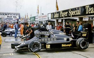 Ayrton Senna's Lotus 97T, 1985 British GP Pit lane by F1-history