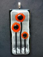 Orange Poppies Fused Glass by FusedElegance