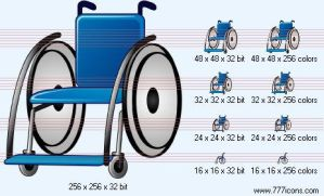 Wheelchair Icon by medical-icon-set