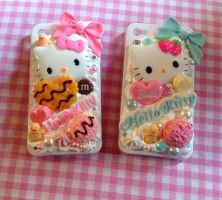 HELLO KITTY WHIPPED CREAM CANDY I PHONE 4 CASE by KAWAIIBOUTIQUE