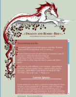 CSS Dragon and Roses - Red by jennyleigh