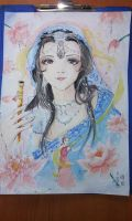 indian girl in saree by kagome94stefi