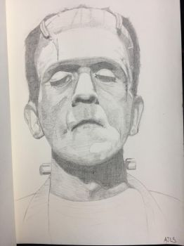 Karloff as the frankensteins monster by alanloredosilva