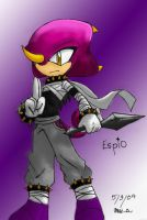 Espio the Chameleon by MESS-Anime-Artist