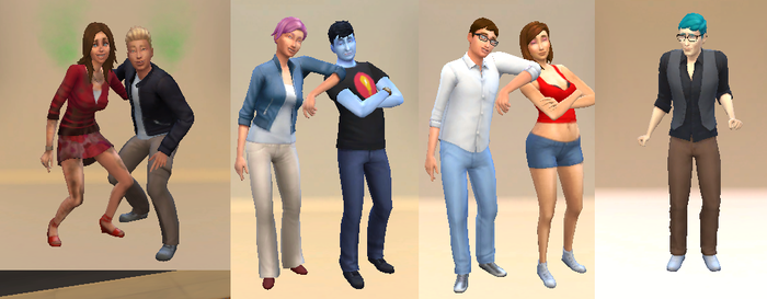 Sims 4 Brony Analysts by Fortuneteller102