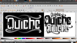 Font design screenshot by QuicheLoraine