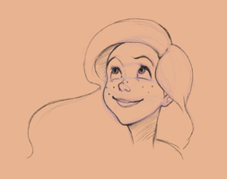 Ariel face study by Inusen
