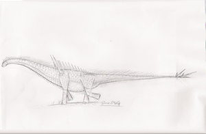 armored sauropod by dinodanthetrainman