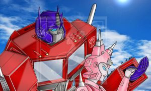 Optimus Prime and Elita-1 -Complete- by Lady-ElitaOne