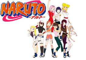 Naruto girls group 1 OC 1 by K-Nekomusha