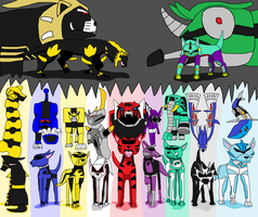 Power Rangers Ginga Canines by Gingacreator