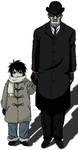 Small L and Watari Death Note by tekenblok
