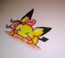 Pichu nom tattoo by Snappedragon