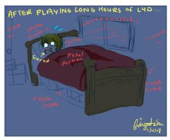 After long hours of L4D.... by Fishguts-San
