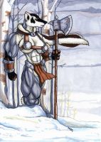 barbarian badger by wolfgangcake