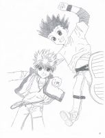Gon and Killua: Old drawing by hanachan4262