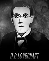 HP Lovecraft by bradchaos
