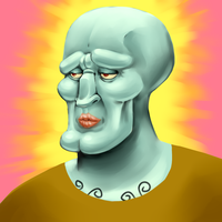 Handsome Squidward by HitokiriM