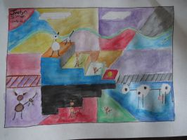 Justyn's Abstract-Watercolor Contest painting by Justyn16