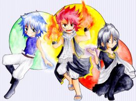 3 of my most faved Fairy Tail charcters by J-C-P