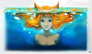 Lady of the Goldfish by Shiro169