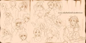 APH: Lullaby Sketches by claudiakat