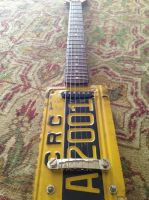 License Plate Guitar Build w/ Pickup by JoeySCOMA