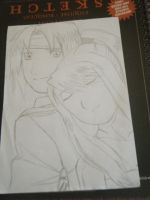 Ed and Winry 1 Lineart by fullmetaladdict1101