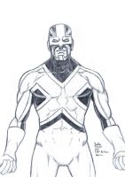 Daily Sketches Captain Britain by fedde