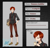 Demian Saddler~ .:Ficha:. The Dimness by NarukoMegpoid