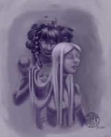 The Black Ladies by SylviaDraws