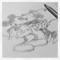 Mickey and Minnie Mouse, in progress by xxeks