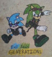 Evil Sonic Generations by SagaHanson25