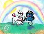 Unico and his friends. by silentlily