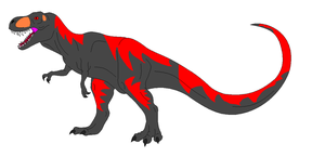 Black Tyrannosaurus (dinogirl500 style) by Dinossword