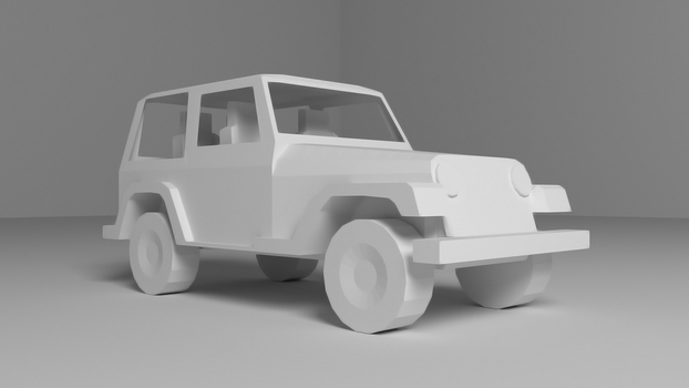 Jeep Wrangler Low Poly by LilacGear