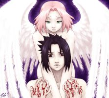 Sasuke and his angel by Bad-Anko